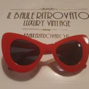 OCCHIALE VINTAGE ROSSO